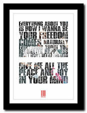 ❤   MUSE - Bliss  ❤ song lyric poster typography wall art print - 4 sizes