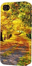 Autumn Drive Fall Leaves Fence Plastic Case Fits Apple iPhone 4s 5 5s 5c 6