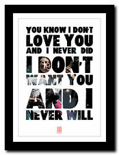 ❤ MUSE - Hypermusic ❤ song lyric poster typography art print - 4 sizes