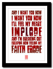 ❤ MUSE - Hysteria ❤ song lyric poster typography art print - 4 sizes #2