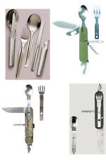 Military Army Boy Scout Hiking Camping Survival Chow Mess Eating Utensil Kit NEW