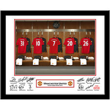 Personalised Manchester United FC Dressing Room Photo - MUFC Football Christmas