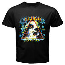 New DEF LEPPARD *Hysteria Rock Band Legend Men's Black T-Shirt Size S to 3XL