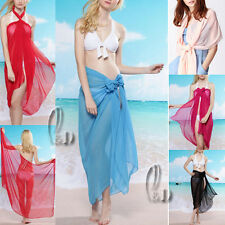 SEXY CHIFFION BEACH SARONG BIKINI COVER OVERSIZE COCKTAIL SCARF/SHAWL SW007