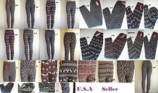 Womens Thick Warm Winter Leggings TIGHT Pants Fleece lining ONE Size #100478