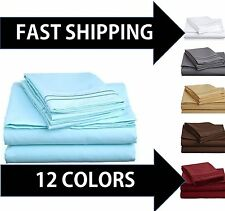 1800 COUNT DEEP POCKET 4 PIECE BED SHEET SET - WINTER COLORS AVAIL IN ALL SIZES