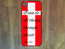 Iphone 4 4s 5 5s 6 case christian jesus bible verse cross I can do all things