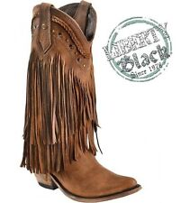 Womens Liberty Black Vegas Long Fringe Faggio/Brown Cowboy Boots **TOP SELLER**