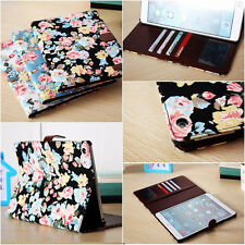 Retro Vintage Rose Flower Case Leather Smart Cases for Apple New iPad 5 iPad Air