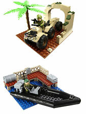 Charater Building H.M Armed Forces - QUAD BIKE Or RIB Mini Sets NEW