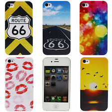 Sky ROUTE 66 Lips Bird Sun Stars Image Hard Back Case Cover Skin for iPhone 4 4S
