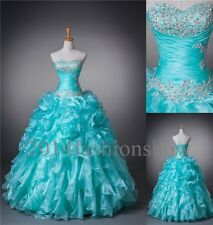 Turquoise Quinceanera Dresses Long Prom Ball Gown Pageant Dresses SZ4-16/Custom