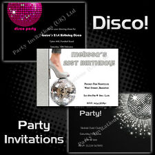 Personalised Birthday/Hen Party Invitations 18th 21st 30th 40th 50th DISCO