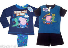 Boys Short Long Pyjamas George from Peppa Pig NEW 1 2 3 4 5 6 Yrs RRP From £14