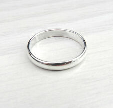925 sterling silver plain wedding/ band rings (3mm)
