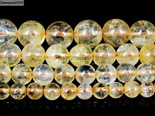 AAA Natural Citrine Gemstone Round Loose Beads 15'' Strand 4mm 6mm 8mm 10mm 12mm