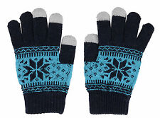 Touch Screen Gloves with Conductive Fingertips for Smartphone Tablet