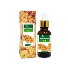SWEET ALMOND OIL 100% NATURAL PURE UNDILUTED UNCUT CARRIER OILS 5ML TO 100ML