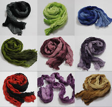 "New ladies Womens girls  20""X60"" Long Soft Wrinkle scarf wrap shawl"