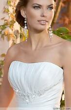 White or Ivory Wedding Dress Gown Bride Dress Stock Size: 6 8 10 12 14 16