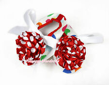 Infant Newborn White Ribbon Rainbow Heart Baby Crib Shoes Minnie Rosettes NB-18M