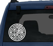Rounded Maze - Circular Puzzle Labyrinth Path Finding- Car Tablet Vinyl Decal