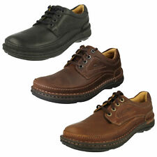 MENS CLARKS LACE UP CASUAL ACTIVE AIR AIR FLOW LEATHER SHOES NATURE THREE FIT G