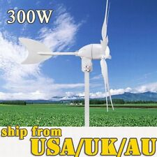 TURBINE 300W WIND GENERATOR  HYACINTH DRIVEN  HIGH EFFICIENCY 6 BLADES LIGHT