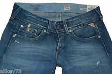 ORIGINAL REPLAY WASHED JEANS JANICE BAGGY LOOSE JEANS DENIM