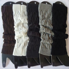 Fashion Lady Women Crochet Knit Winter Wool Leg Warmer Legging Socks TW15