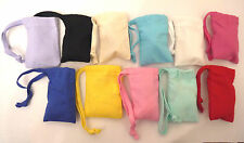 Small Drawstring Cotton Gift/Party Bags Various colours