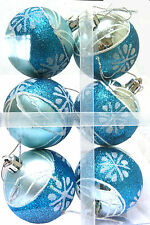 Christmas Blue Baubles 6 Pack. 3 x packs only £10 (free p&P)