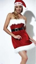 Ladies Womens Deluxe Christmas Sexy Santa Baby Chemise Outfit Costume with Hat