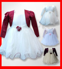 Baby Girls Bolero Jacket Dress Special Occasion Wedding Dresses 0 to 24 Months