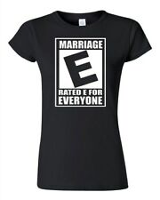 Junior Rated E Marriage Is For Everyone Equal Rights Funny Nerdy T-Shirt Tee