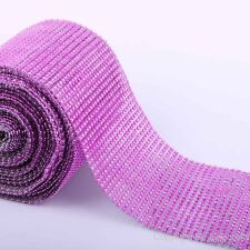 "10 Yards 4.6"" Diamond Mesh Wrap Roll Sparkle Rhinestone Crystal Wedding Ribbon"