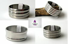 Mens Steel Ring Stainless Wide Band Over Sized Size 17mm-22mm Boys Fashion New