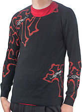 Ed Hardy Black Mens Panther Cross Crew Neck Sweater