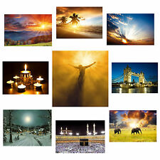 LED CANVAS PRINT BACKLIT WALL ART GIFT PICTURE FRAME ILLUMINATION TWINKLE LIGHTS