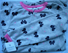 NWT CARTERS SIZE 8 & 10 GIRLS FLEECE FOOTED FEETY PAJAMAS 8 DIFFERENT PATTERNS