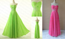 Long Prom Bridesmaid Dresses Beaded Evening Formal Party Gown SZ 6+8+10+12+14+16