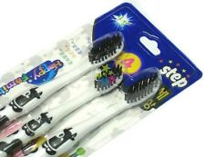 Pack of 3pcs Healthy Cute Cartoon Cow Pattern Toothbrush for Family of Three NEW