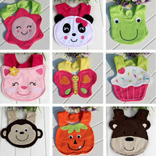 HOT Kids Baby Boy Girl Lunch Bibs Cute Feeding 3D Animals Soft Saliva Towel 05a