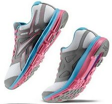 REEBOK DUAL TURBO FIRE RUNNING SNEAKERS WHITE GREY PINK NEW WOMENS SIZE 7-10