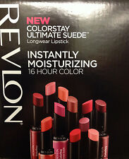 (1) REVLON COLORSTAY ULTIMATE SUEDE LIPSTICK, YOU CHOOSE YOUR COLOR!