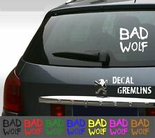 Doctor Who - Bad Wolf - Car Window Laptop Vinyl Decal Sticker