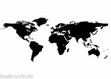 Global World Map wall  art vinyl decal sticker Removable
