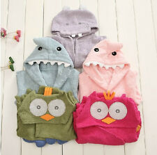 New shark Baby/Toddler boy girl Animal Funky Hippo Cloth Bath Wrap Hooded Towel
