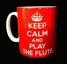 NEW KEEP CALM AND PLAY THE FLUTE GIFT MUG CUP PRESENT FLAUTIST PLAYER TEACHER