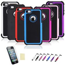 For iPhone 5 / 5S / SE Hybird PC Shockproof Dirt Dust Proof Hard Cover Case